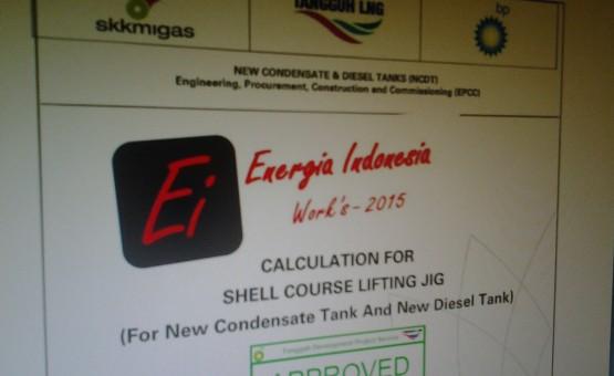 shell course lifting jig BP project tangguh
