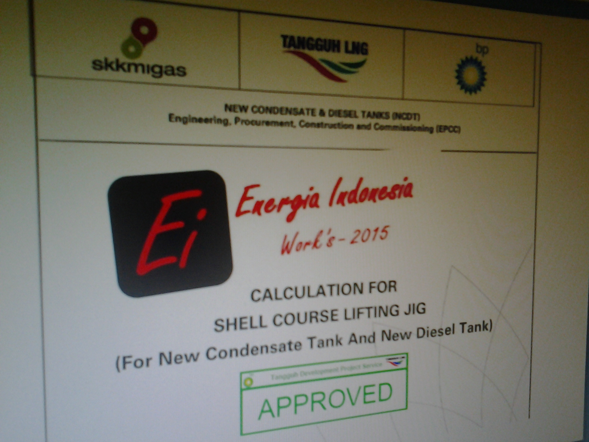 Calculation- Shell course lifting jig BP Project Tangguh