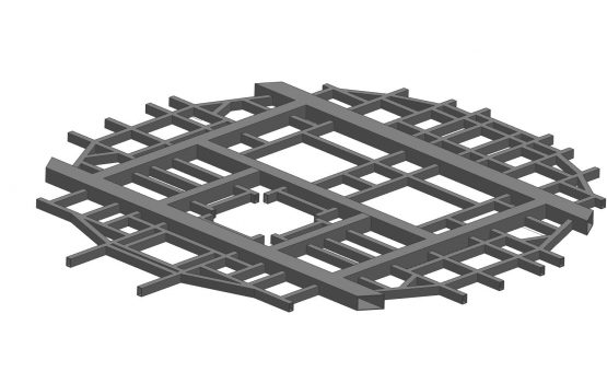 FEA_simulation_smelter_industry_indonesia_furnace_roof_steel_assy_frame